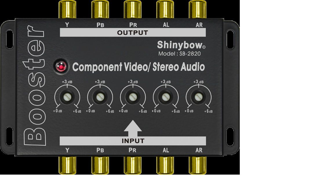 1 To 1 Component Video•Audio Booster