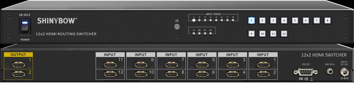 12x2 HDMI Routing Switcher