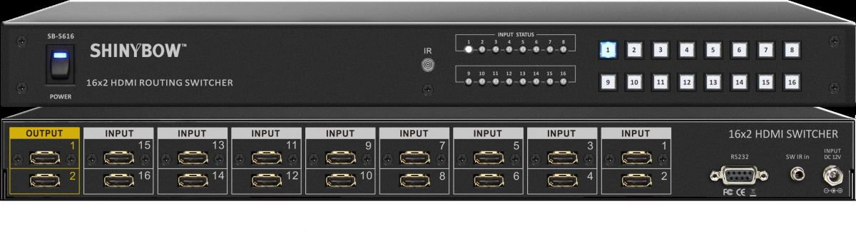 16x2 HDMI Routing Switcher