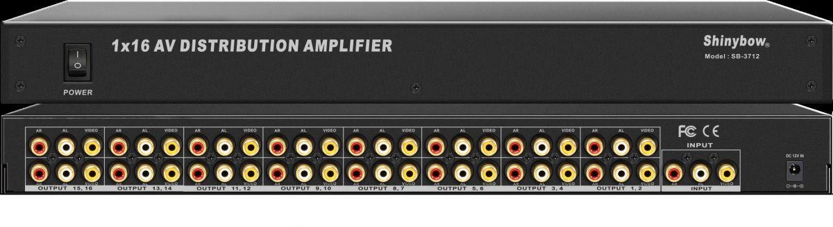 1x16 Composite Video•Audio Distribution Amplifier