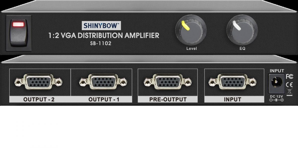 1x2 VGA Distribution Amplifier (VGA Booster)