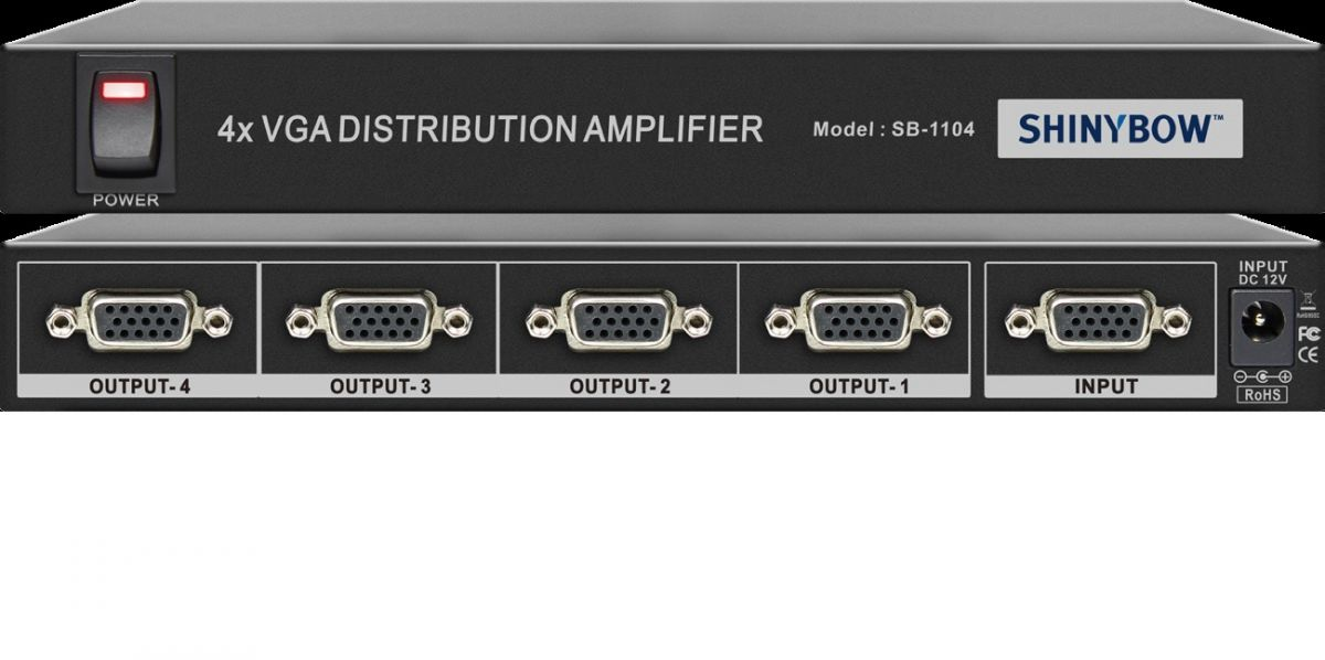 1x4 VGA Distribution Amplifier