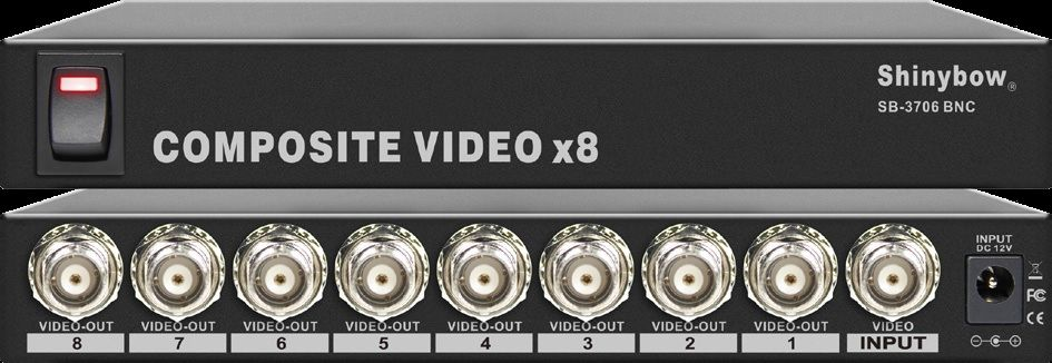 1x8 Composite Video Distribution Amplifier