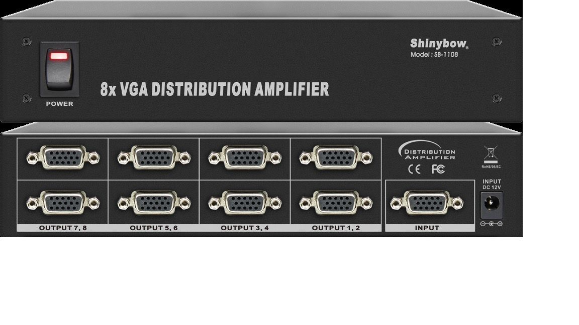 1x8 VGA Distribution Amplifier