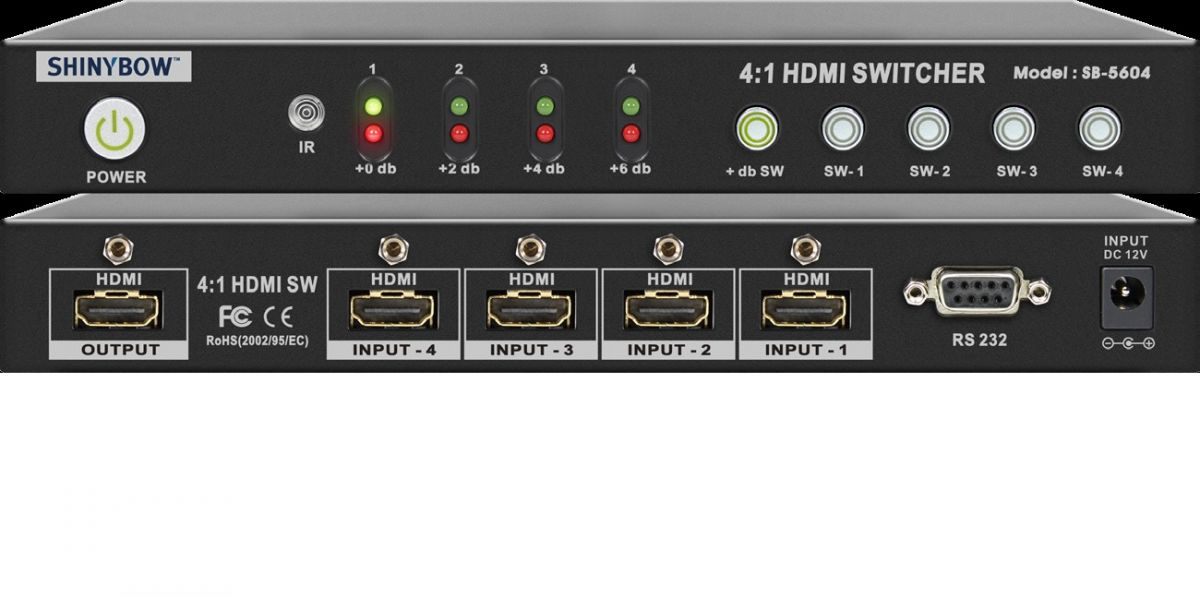 4x1 HDMI Routing Switcher
