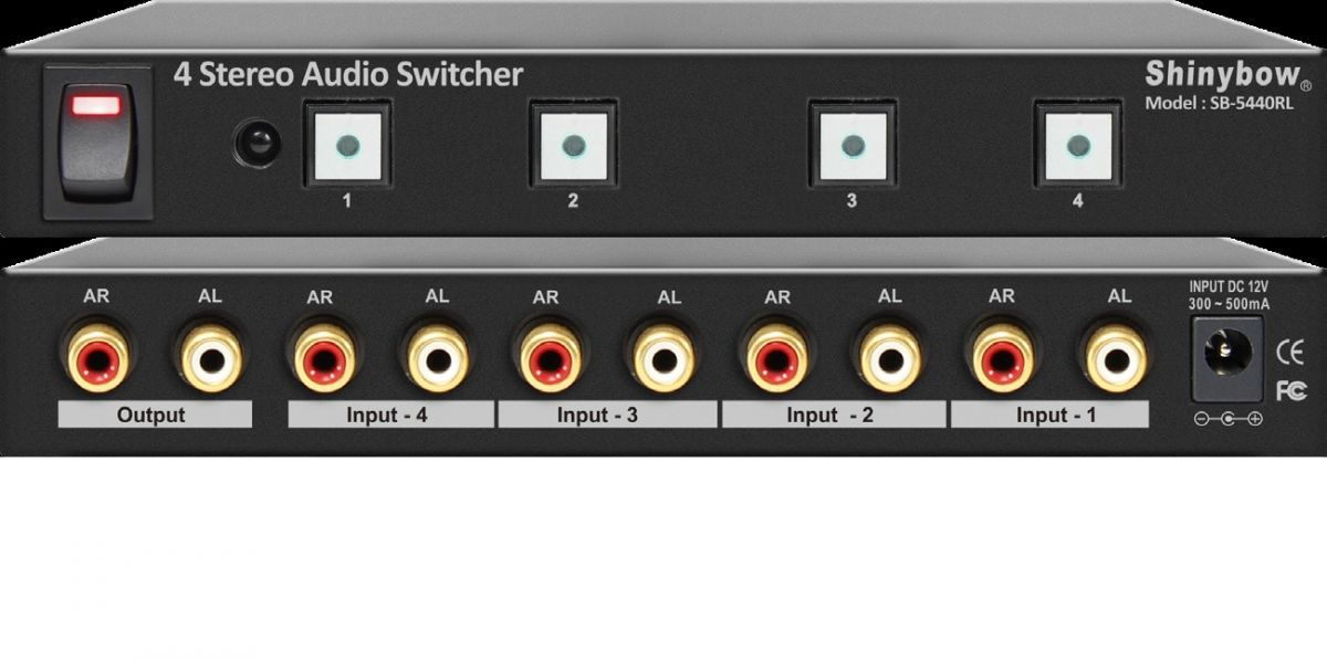 4x1 Stereo Audio Switcher