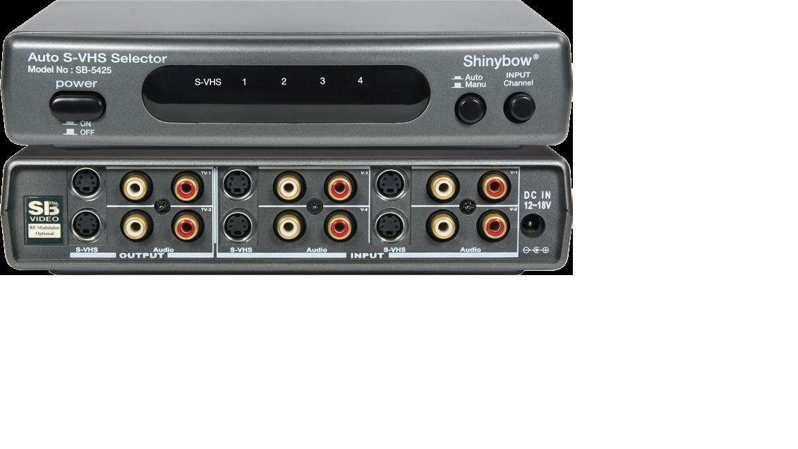 4x2 Auto Scan S-Video•Audio Switcher