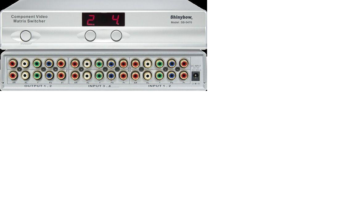 4x2 Component•Audio Matrix Switcher