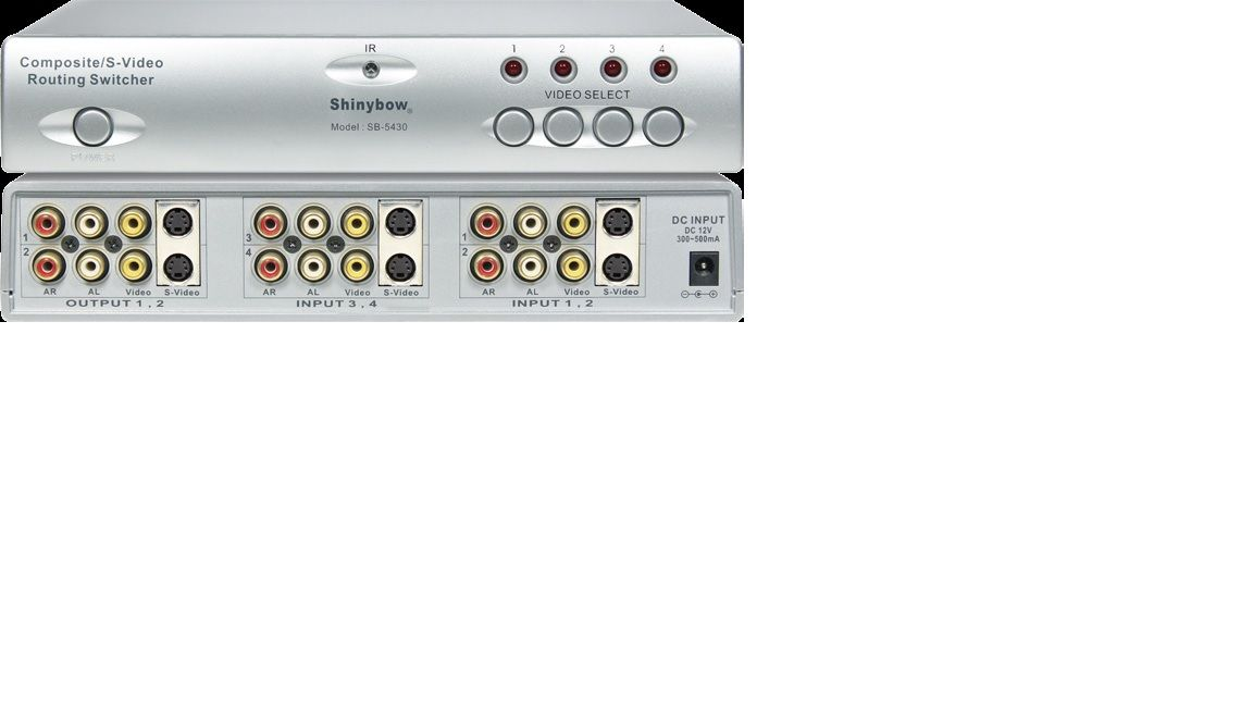 4x2 S-Video•Composite Video•Audio Routing Switcher