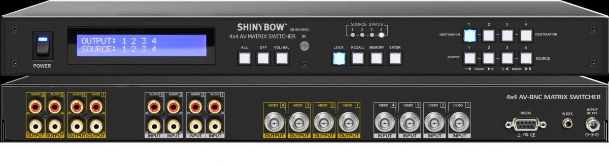 4x4 AV (BNC) Matrix Switcher