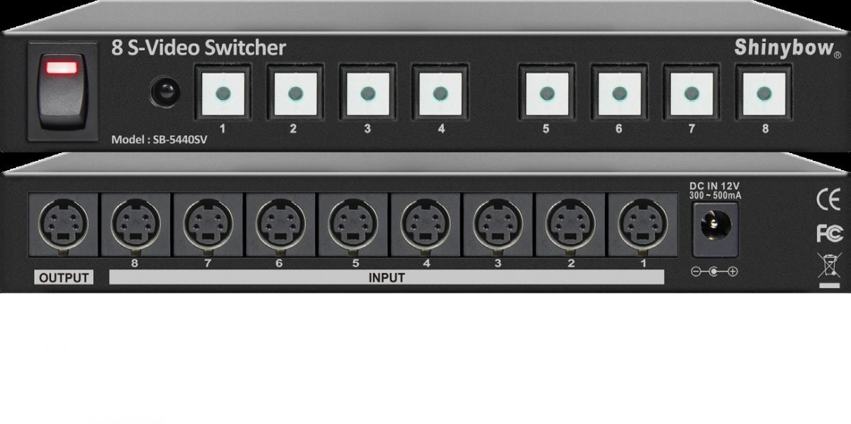 8x1 S-Video Switcher