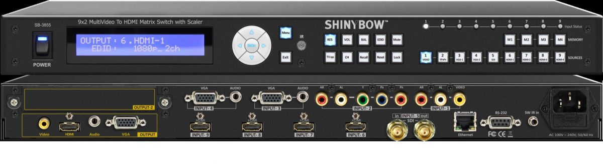 9x2 Multi-Video Routing Switcher with Scaler