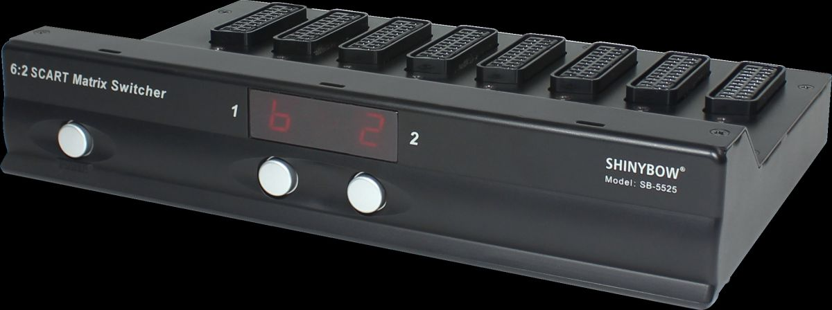 6x2 Scart Matrix Switcher